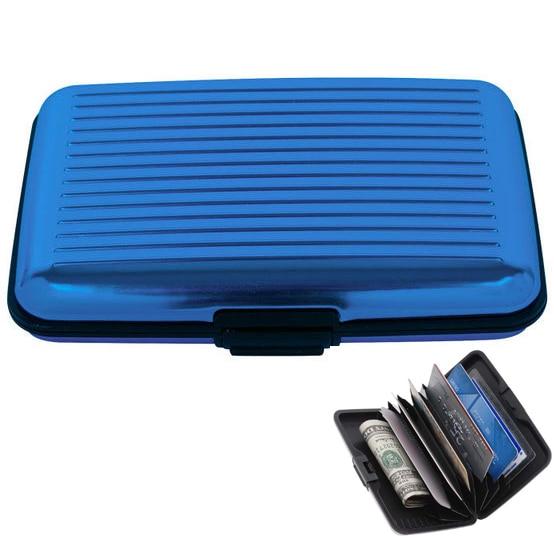Wholesale 10 AUAU COFA Aluma Wallet Credit Card Holder RFID Blocking Blue Color