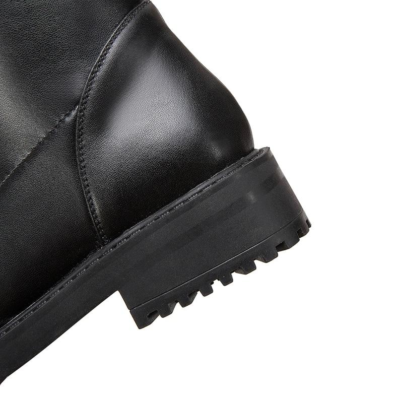 genou Hiver Femmes En Enmayer Mujer the Zyl1770 Black Size34 Cuir Rond Zip Bout Chaussures Botas Over 40 Véritable Base Pour De Bottes 00OAqp