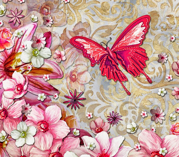 5d diamond paintingcanvasdiamond cross stitchsets crystal needlework diy diamond embroidery Butterfly flew into the flowers