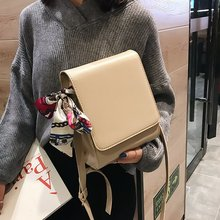 New style single shoulder oblique lady  Korean PU pure color fashion trend small square bag
