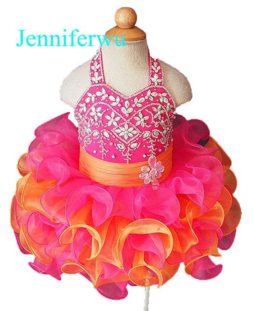 Rosa niña desfile vestido de niña ropa de marca vestido de partido ...
