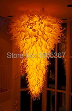 Free Shipping Large Cheap Lighting Chihuly Style Glass Classical Chandelier