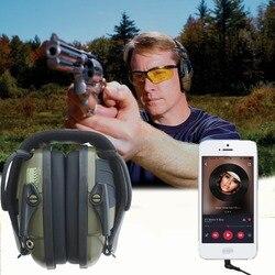 Esportes ao ar livre Anti-Impacto do ruído de Amplificação de Som de Tiro Eletrônico Earmuff Caça Tático Protetor Auricular