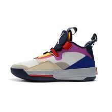 reputable site 92493 f63c7 Aire nos Jordania 33 Hombre Zapatos de baloncesto de Katrina juego de  caridad negro puro de cemento Seoul blanco al aire libre z.