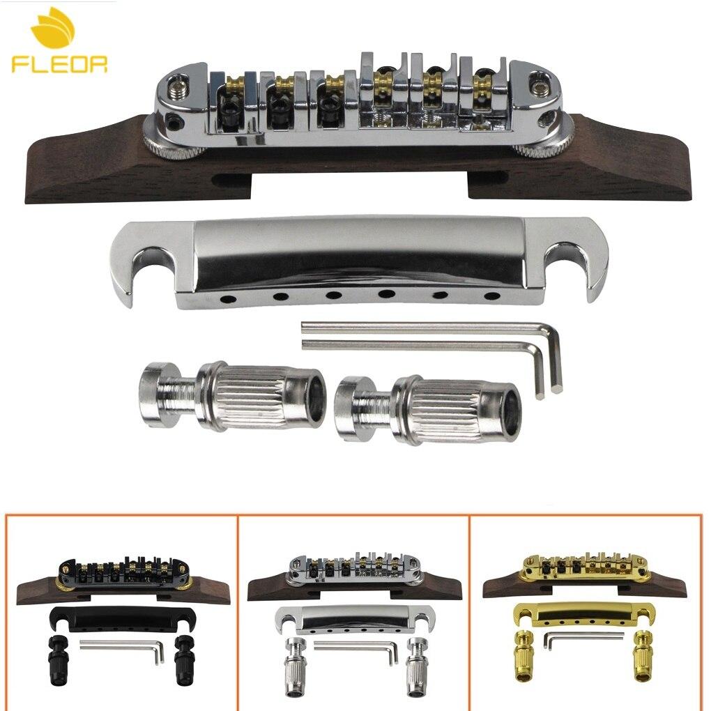 Jazz Guitar Accessories : buy fleor roller saddles bridge with rosewood base tailpiece for jazz guitar ~ Hamham.info Haus und Dekorationen