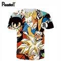 Homens/mulheres/crianças impressão 3D Dragon Ball Son Goku anime camiseta emoji engraçado t camisa Dos Homens moda casual da marca t camisas, M-XXL