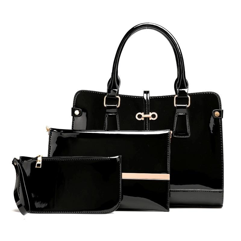 Новинка 2018, высококлассная женская сумка из лакированной кожи, сумки на плечо, роскошная сумка через плечо от известного европейского и американского бренда|Сумки с ручками| | АлиЭкспресс