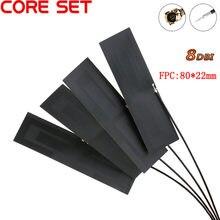 1-10 pces gsm gprs 2g 3g 4g lte antena interna 8dbi fpc conector 80*22mm sem fio modem antena 8cm longo conector ipex