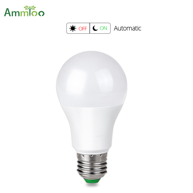 Ammtoo Sensor Light Bulb Dusk To Dawn 10w 15w Smart Led Lighting Bulbs E27 B22 Automatic On Off Yard Garage Garden Patio 85 265v
