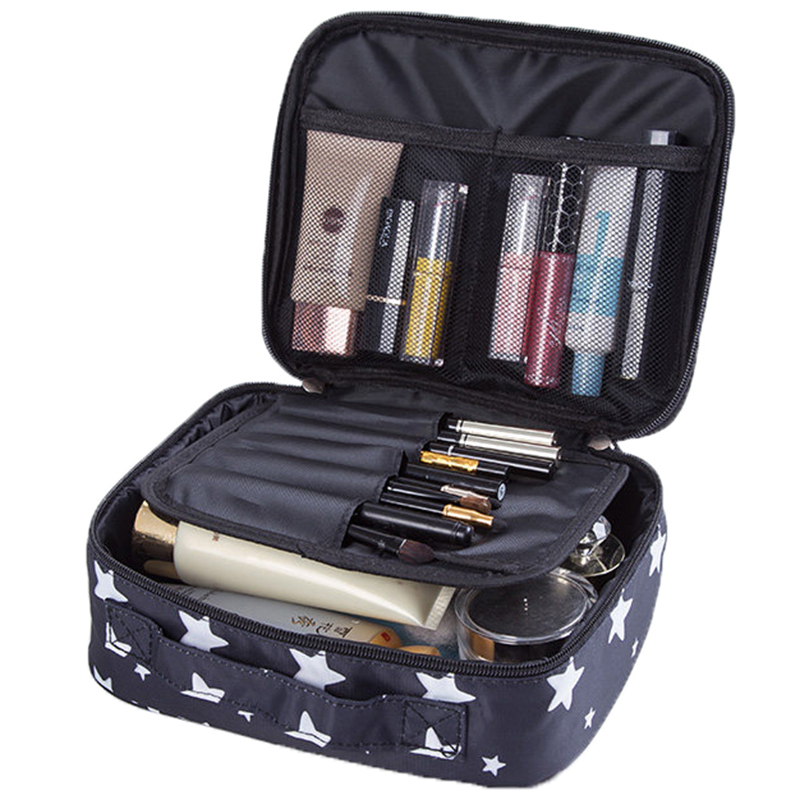 Portable Toiletry Cosmetic Bag Waterproof Makeup Make Up Wash Organizer Storage Pouch Travel Kit Handbag dropshipping msq make up bag pink and portable cosmetic bags for professional makeup artist toiletry case new arrival