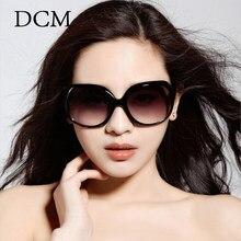 DCM – lunettes de soleil ovales surdimensionnées pour femmes, protection UV400, verres solaires de styliste