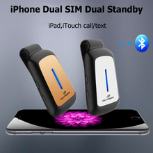 Bluetooth Dual 2 SIM Dual Standy Adapter Morecard with Expansion Micro SIM Card Slot For iOS7-10 device