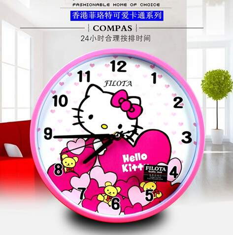 26cm Cartoon Cute Hello Kitty Rabbit Kids Wall Clock Mute Creative Bedroom  Children Modern Quartz Wall Clock Home Decoration In Wall Clocks From Home  ... Great Pictures