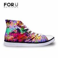 FORUDESIGNS Fashion Spring Women High Top Vulcanize Shoes Galaxy Space Star 3D Printing High Top Canvas
