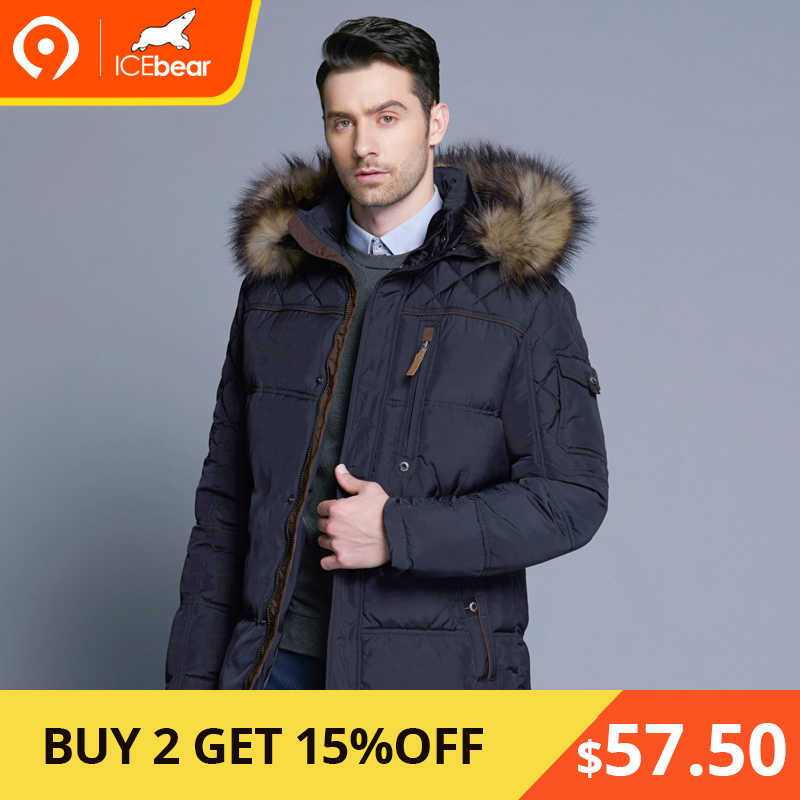 b9792010b ICEbear 2018 Fashion Winter New Jacket Men Warm Coat Fashion Casual Parka  Medium-Long Thickening Coat Men For Winter 15MD927D
