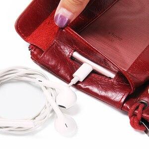 Image 4 - İletişim yeni 2020 hakiki deri kadın cüzdan uzun tasarım debriyaj dana cüzdan yüksek kalite moda kadın çanta telefonu çanta
