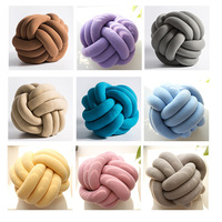 INS Nordic Decorative Pillows Cushion Innovative Pure Handmade Knot Pillow Personalized Ball Cushion for Home Car Diameter 30cm