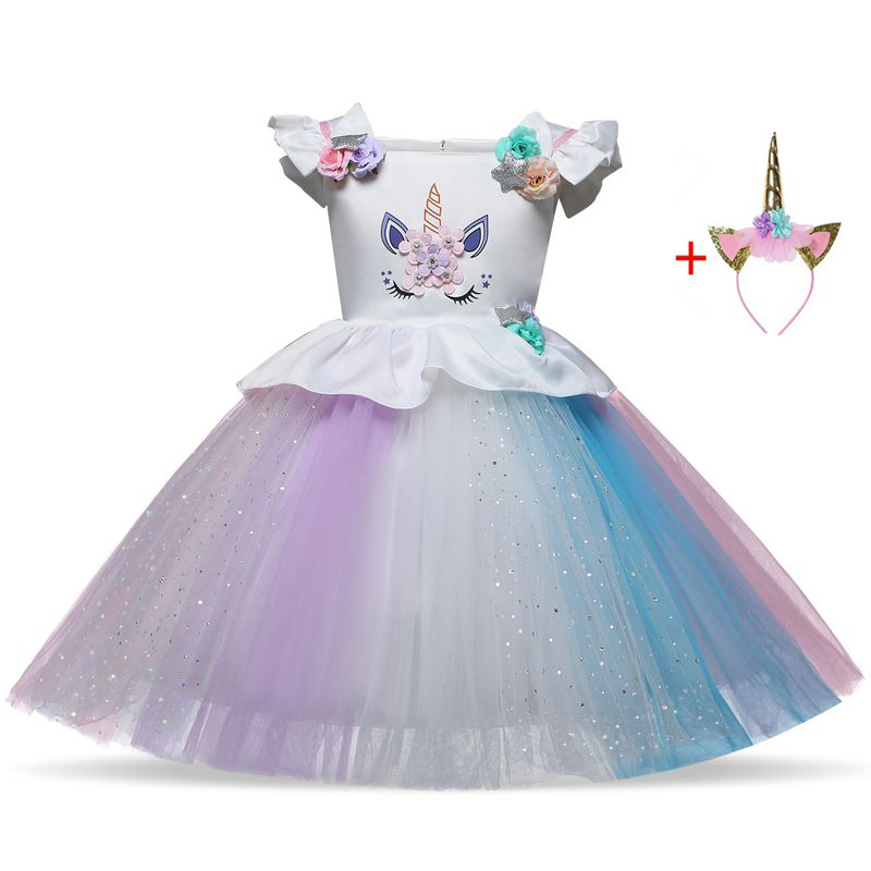 Girls Children 39 s Costume Teenager Prom For Girls Unicorn Party Dress Toddler Cosplay Princess Dresses Christmas Costume Vestido in Dresses from Mother amp Kids