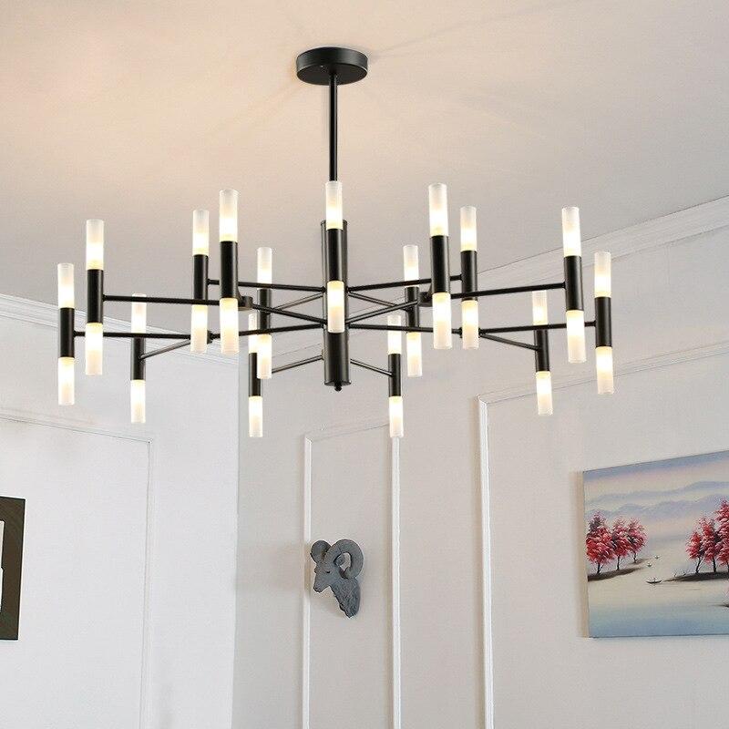 Postmodern chandeliers lighting Nordic Deco luminaires Glass suspended fixtures living room hanging lights bedroom hanging lamps-in Chandeliers from Lights & Lighting    2