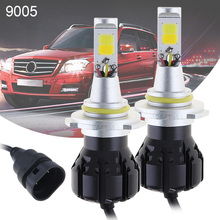 2pcs Car Led Bulbs 12V 2400Lm  9005 9006 White + Gold Car Daytime Running Lights DRL Fog Light  Driving Lamp for Cars Vehicles new dimming style relay waterproof 12v led car light drl daytime running lights with fog lamp hole for mitsubishi asx 2013 2014