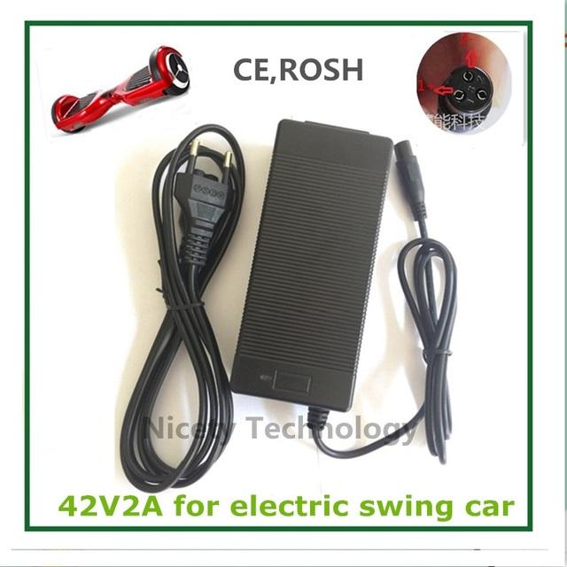 42 V 2A Cargador de Batería Universal, fuente de Alimentación 100-240VAC para Auto Equilibrio Scooter Hoverboard