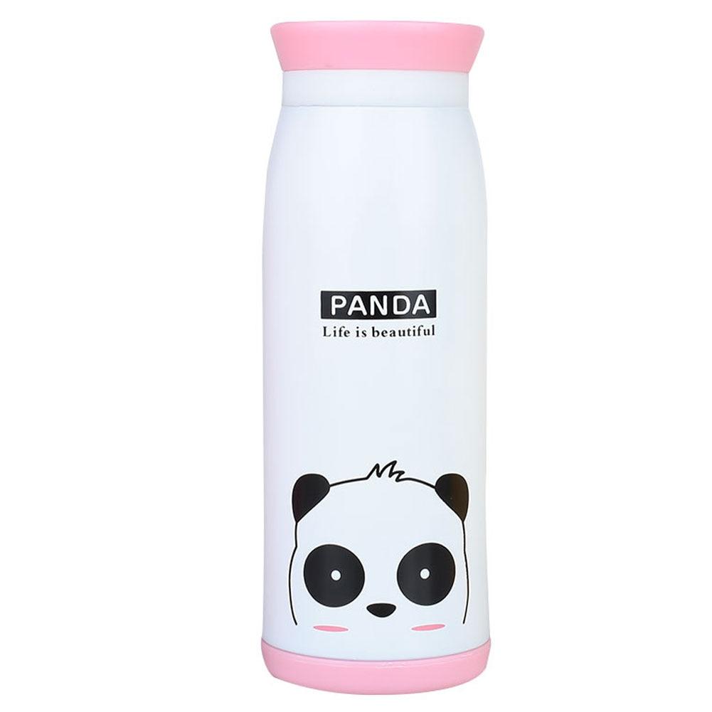 Изоляционная кружка вакуумная кружка чайная кружка с животным узором 500 мл креативная Термочашка Мультяшные пищевые контейнеры - Цвет: Panda