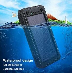 Image 1 - LiitoKala Lii D002 المحمولة خزان طاقة يعمل بالطاقة الشمسية 20000mah ل شاومي 2 آيفون الخارجية باور بنك لشحن البطاريات مقاوم للماء المزدوج USB