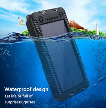 LiitoKala Lii D002 przenośny powerbank solarny 20000mah dla Xiaomi 2 Iphone zewnętrzny akumulator powerbank wodoodporny podwójny USB