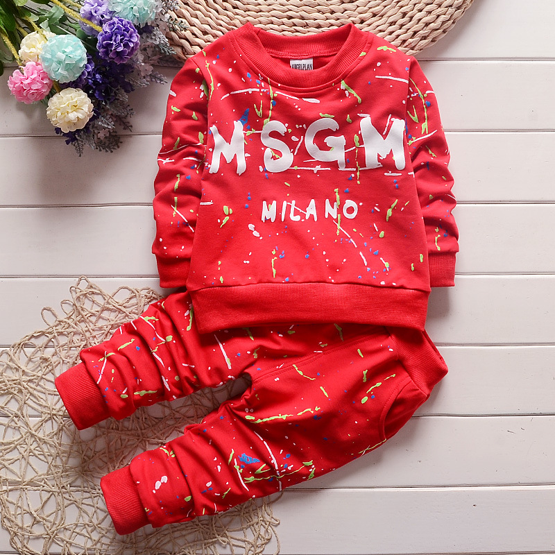 Baby Boy Girl Clothing Set Cotton kids fashion Toddler Clothes printing Suit baby boy dress outfit Infant Long Sleeve 1 4Years in Clothing Sets from Mother Kids