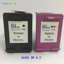 2PK For HP 664 Black & Tri-color Compatible Ink Cartridge DeskJet 1115 2135 3635 1118 2138 3636 3638 4536 4676 Printer