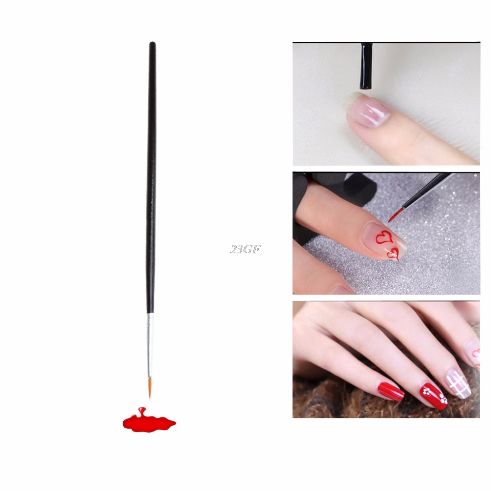 2017 NEW 1pc Nail Art Liner Brushes Pens UV Gel Polish Painting ...