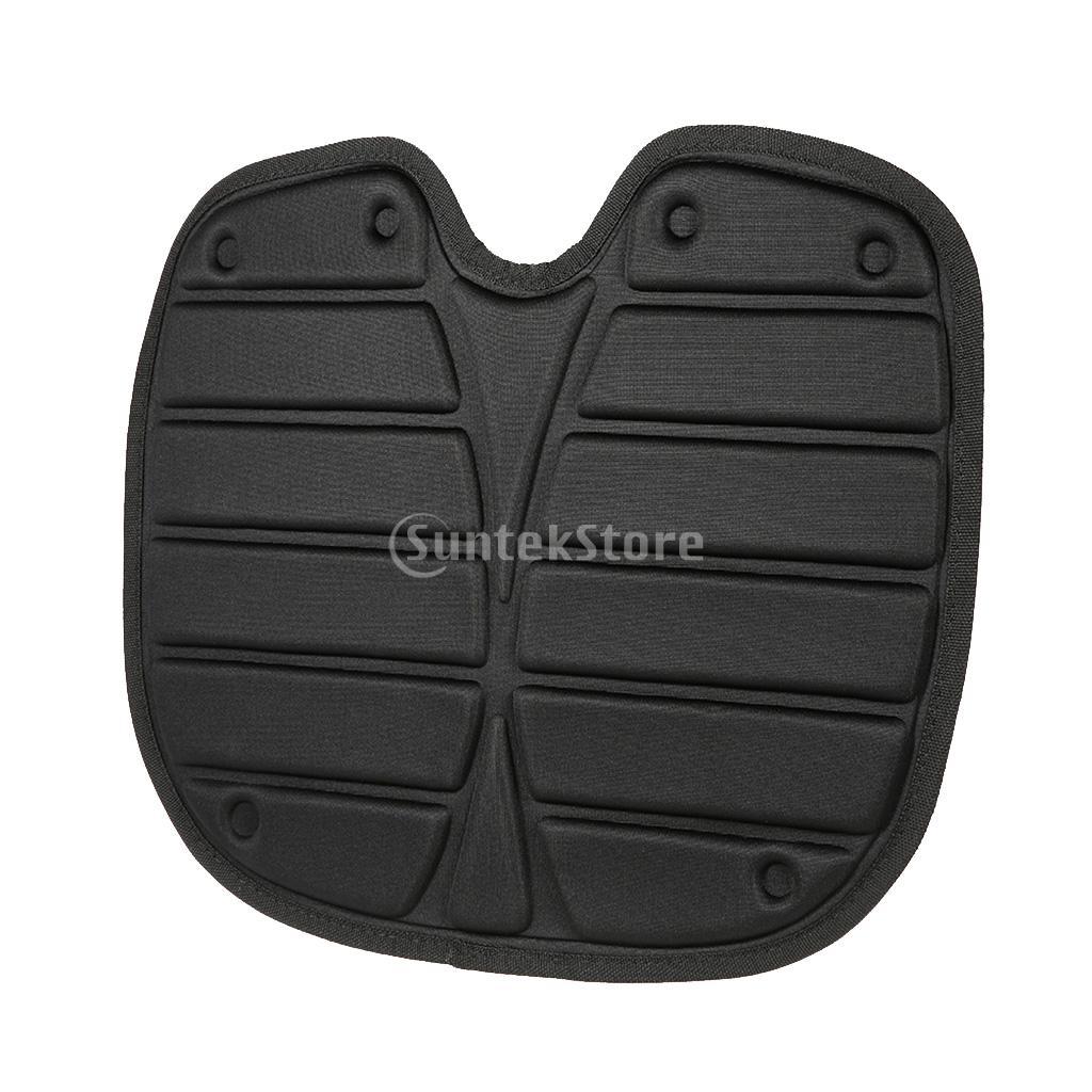 Comfortable Soft Padded Seat Cushion For Kayak Canoe Fishing Drift Boat - Black, 45cm X 35cm