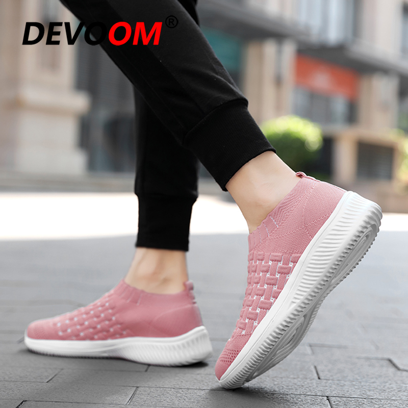 2019 Sneakers Comfort Unisex Espadrilles Femme New Black Flats Slip on Sneakers Wmen Platform shoes fashion Sneakers Brand <font><b>Women</b></font> image