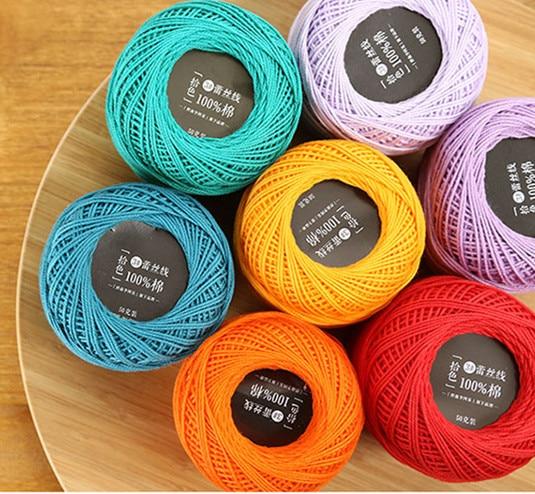 Wholesale 50g No 3 Wool Silk Thick Crochet Yarn Lace Wayuu Bag Hand