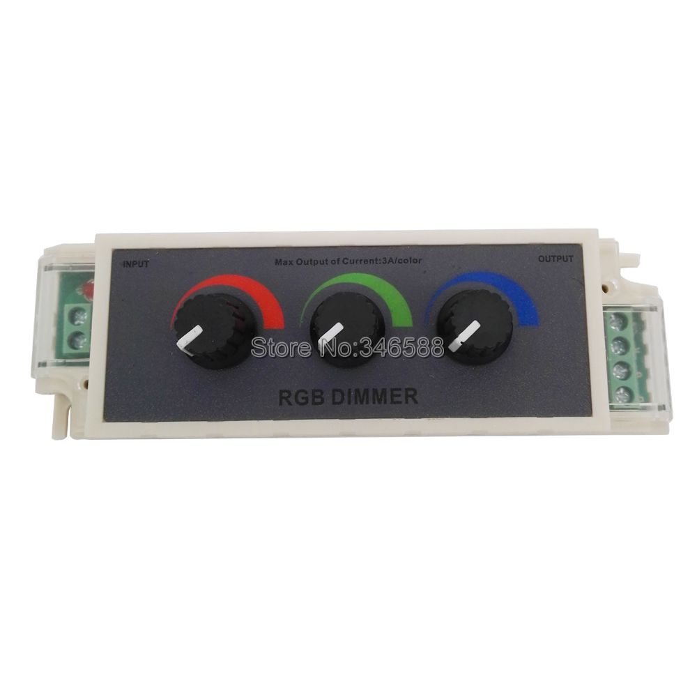 Rgb Dimmer Us 7 95 Dc12v 24v 9a Rgb Controller 3 Channel Rgb Led Dimmer Controller For 3528 5050 Rgb Led Strip Light In Dimmers From Lights Lighting On