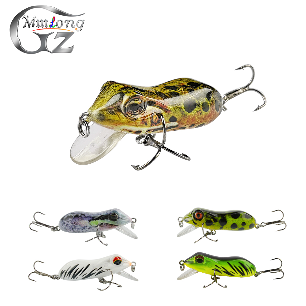 Mmlong 2pcs 63mm Bionic Frog Fishing Lures MR03 Realistic Topwater Hard Fish Wobbler Artificial Fishing Crank bait lures Pesca y0018 wholesale ray frog sets playing blackfish bait lures bait floating frog bait fishing page 5