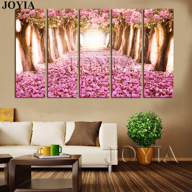 Home Living Art Print Almond Blossoms Painting Set Cherry Blossom ...