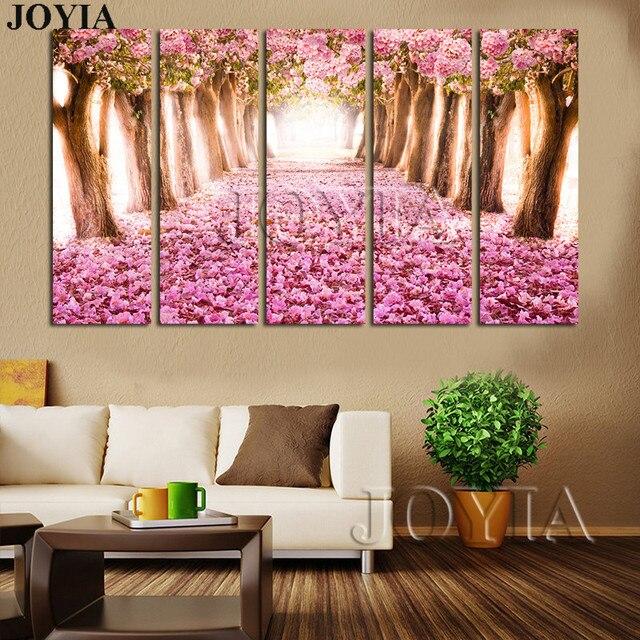 Home Living Kunstdruck Mandel Blüten Malerei Set Kirschblüte Bäume - Wandbilder für schlafzimmer
