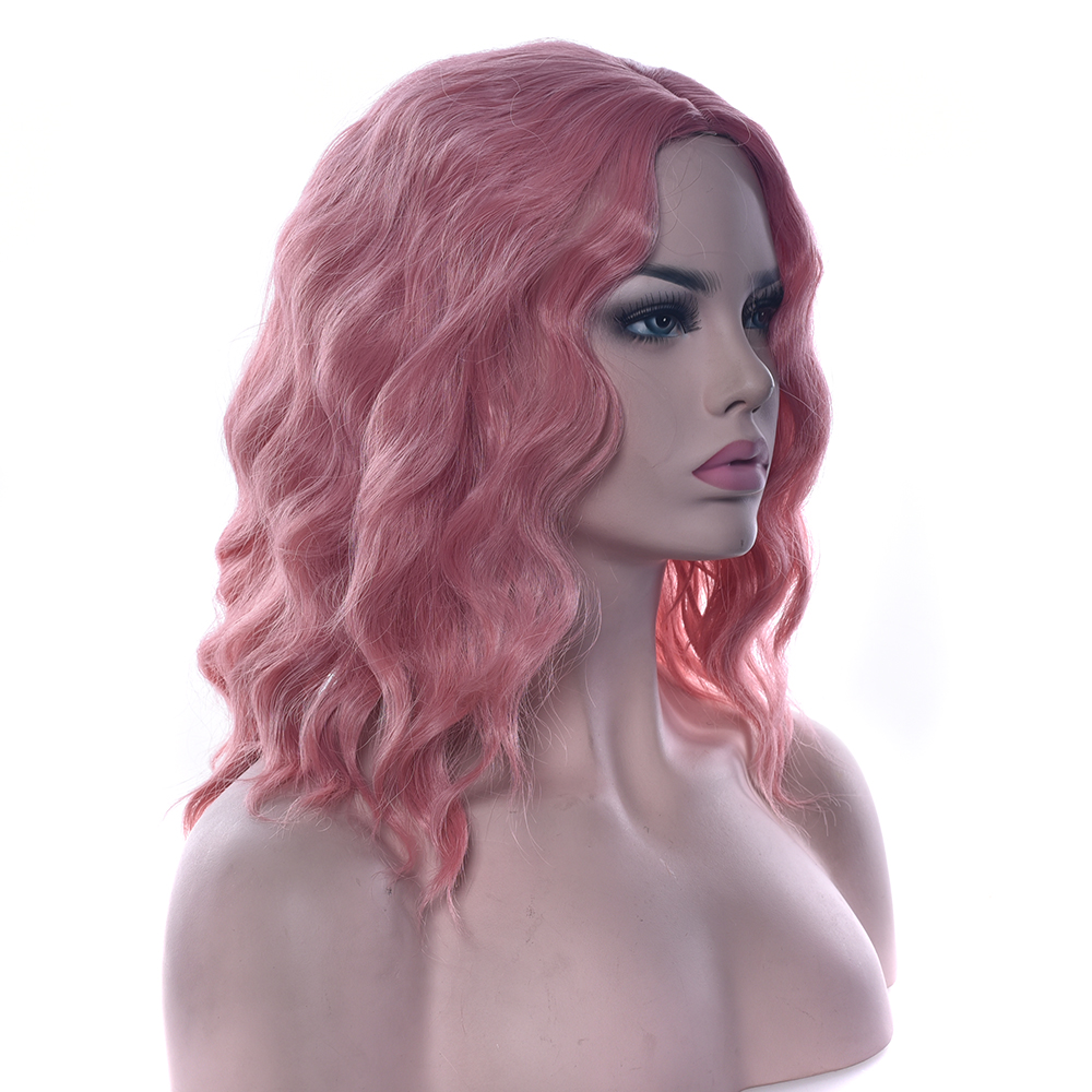 Soowee Wavy Gray Pink Synthetic Hair High Temperature Fiber Wig Hairpieces Party Hair Red Black Green Women Cosplay Wigs