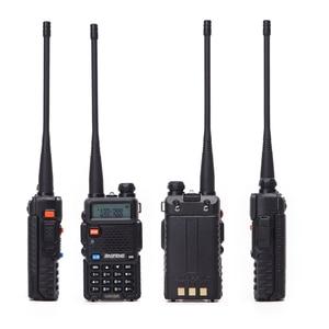 Image 4 - 2 adet Baofeng walkie talkie uv 5r dual band iki yönlü telsiz VHF/UHF 136 174MHz & 400  520MHz FM taşınabilir telsiz kulaklık ile
