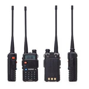 Image 4 - 2 pcs baofeng walkie talkie uv 5r dualband rádio em dois sentidos vhf/uhf 136 174 mhz & 400 520 mhz fm transceptor portátil com fone de ouvido
