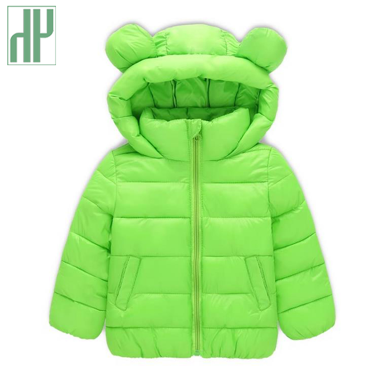 HH baby winter jacket Fashion down cotton boys girls parka coat Children Thick Warm Kids hooded jacket Cartoon Outerwear 2-6Yrs 2016 short paragraph winter down thick jacket fashion girls boys cotton hooded coat fashion hildren s jacket warm outwear 16a12