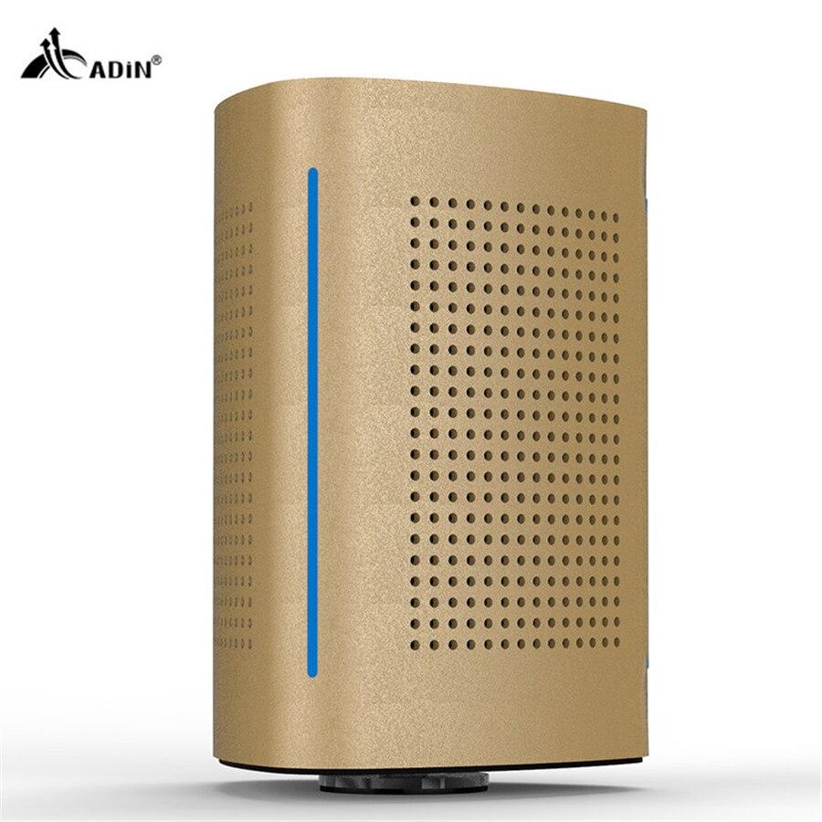 ФОТО Adin BT300 Wireless Bluetooth Speakers Resonance metal Speakerphone Stereo Speaker Outdoor Stereo Bass For Phone Computer Audio