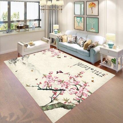 Производитель новый китайский пейзаж живопись Гостиная модельный ковер комната Настольный коврик для чая индивидуальные чернила ковер
