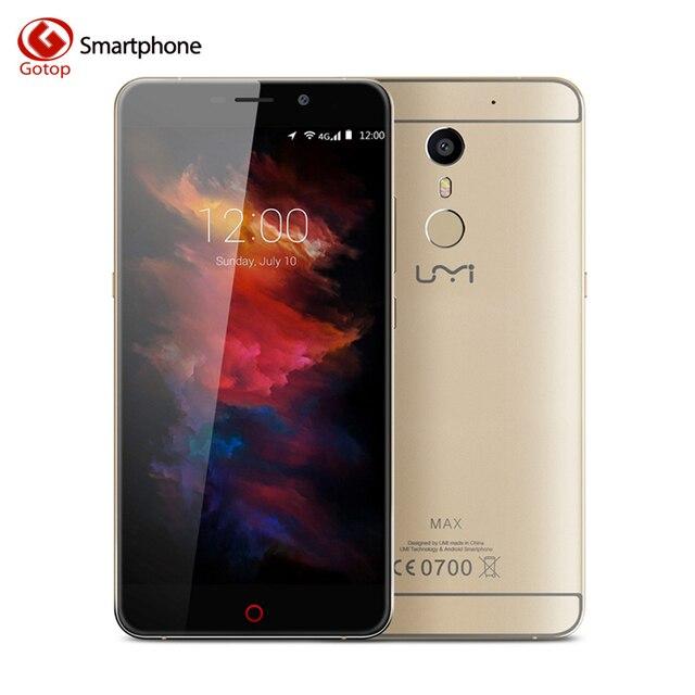 Original Umi Max Smartphone 5.5 Inch Android 6.0 MediaTek Helio P10 Mobile Phone 3GB RAM 16GB ROM 4000mAH 1920x1080 4G CellPhone