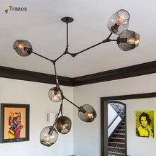 Дизайнерские Люстры в скандинавском idea ветви кулон ламповый стеклянный шар лампа droplight пост-современное искусство