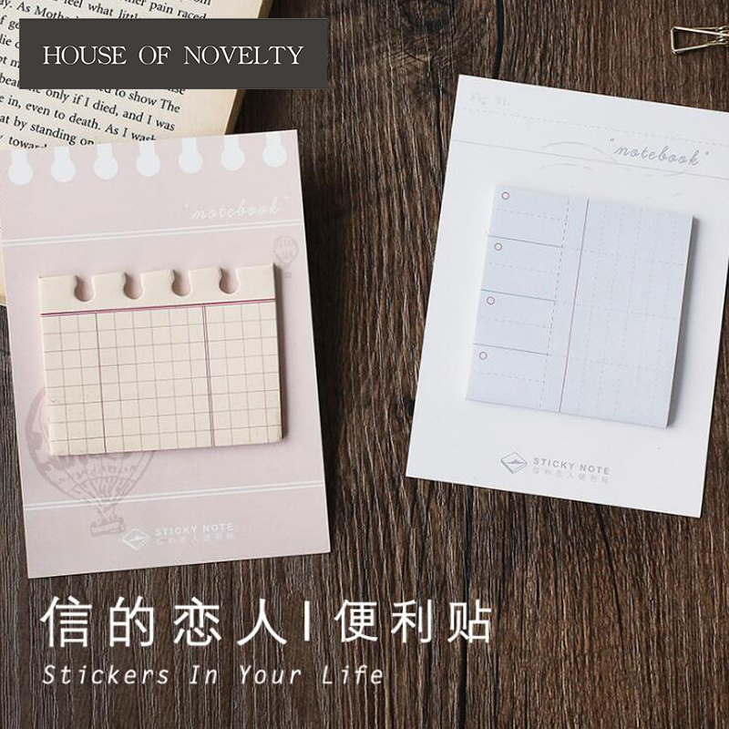 Creative Plan List Grid Memo Pad N Times Sticky Notes Escolar Papelaria School Supply Bookmark Label