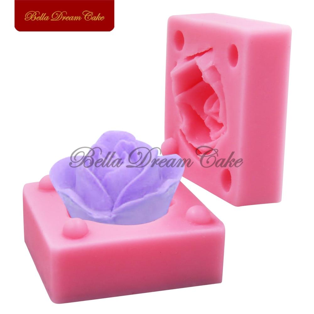 Fondant Cake Silicone Molds : Rose Silicone Mold,Sugarcraft Cake Decoration Fondant ...