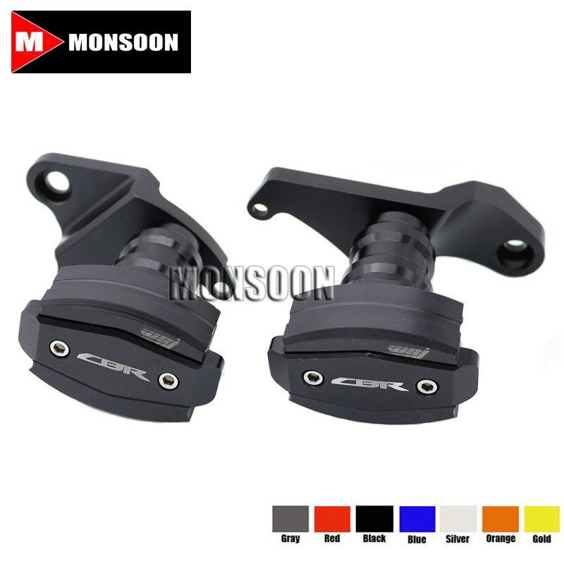For HONDA CBR500R CBR 500R 2013-2015 Motorcycle Body Frame Sliders Crash Protector Motorbike Falling Protection Black