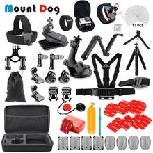 Gopro Accessories Set for go pro hero 7 6 5 4 3 kit Mount for action camera Xiaomi Yi 4K Eken H9 SJCAM mijia black Accessories soocoo sports action camera accessories kit for soocoo camera gopro hero sjcam xiaomi yi eken chest clamp hand mount large bag